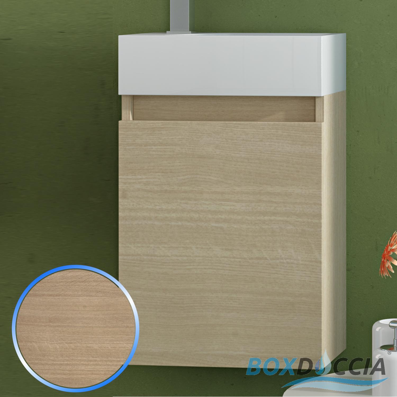 BASE MOBILE DA BAGNO SOSPESO ARREDO MODERNO DESIGN LEGNO LAVABO 4 COLORI 40 CM  eBay