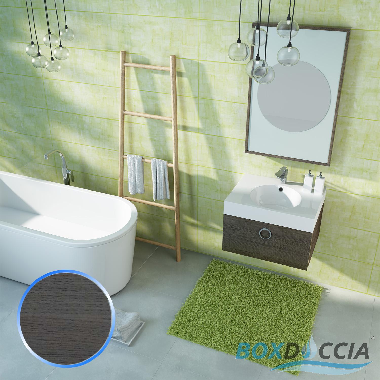 MOBILE DA BAGNO SOSPESO ARREDO MODERNO DESIGN LAVABO SPECCHIO 4 COLORI 60 CM  eBay