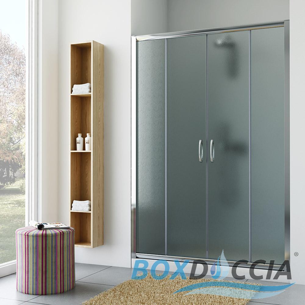 seduta pieghevole per cabina doccia : BOX-CABINA-DOCCIA-NICCHIA-PARETE-PORTA-BAGNO-CRISTALLO-SCORREVOLE-DA ...