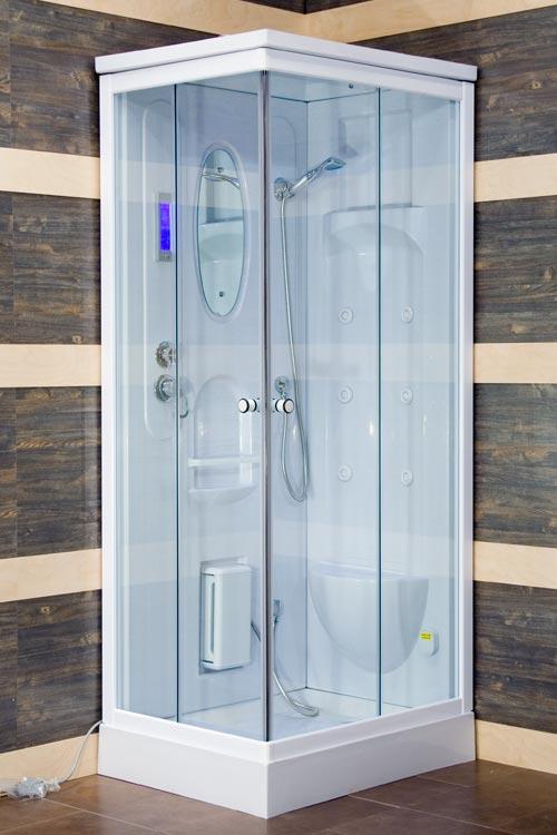 Cabina Box Doccia Idromassaggio Colorado con Sauna 80x100 Multifunzione bagno  eBay