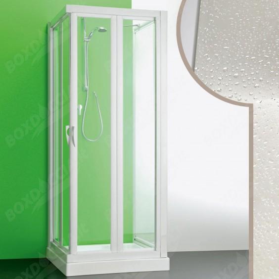 Box doccia 3 lati 90x75x90 CM in Acrilico mod.Giove con apertura a libro