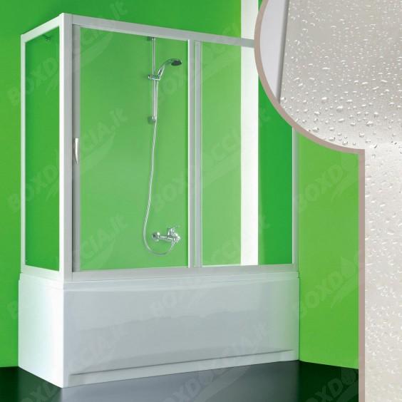 Box doccia sopravasca in Acrilico mod. Plutone con apertura centrale