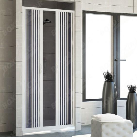 Porta doccia 150 CM in PVC mod. Vergine con apertura centrale