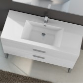 Piano lavabo in acrilico 120cm White 4