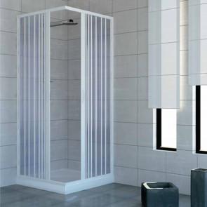 Box doccia 70x80 in PVC mod. Acquario con apertura centrale