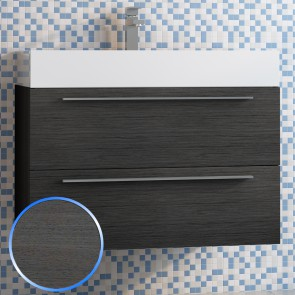 Base sospesa 80cm rovere grigio Lisbona 1