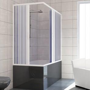 Box doccia sopravasca 70x140 in PVC mod. Nadia con apertura centrale