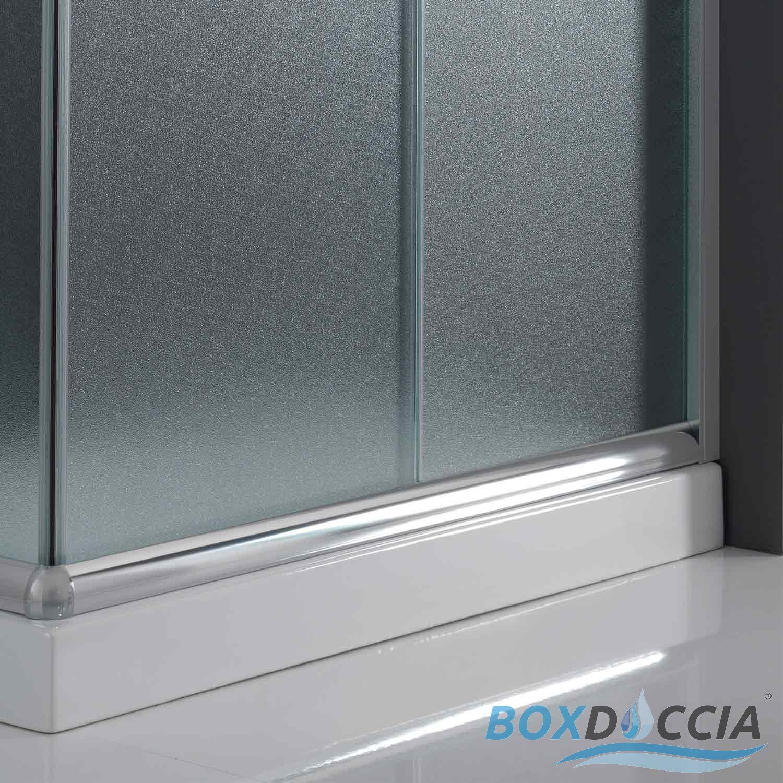 box cabina doccia bagno 80x100 rettangolare angolare cristallo vetro scorrevole ebay. Black Bedroom Furniture Sets. Home Design Ideas
