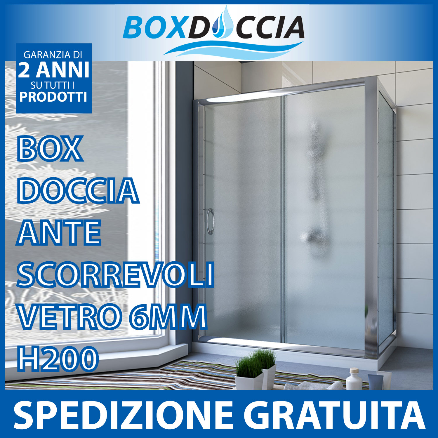 Cabina box doccia arkansas duo 70x100 70x120 70x140 80x100 for Ikea box doccia