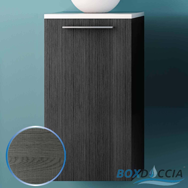 Base mobile da bagno sospeso arredo moderno design legno lavabo 4 colori 60 cm ebay - Base mobile bagno ...