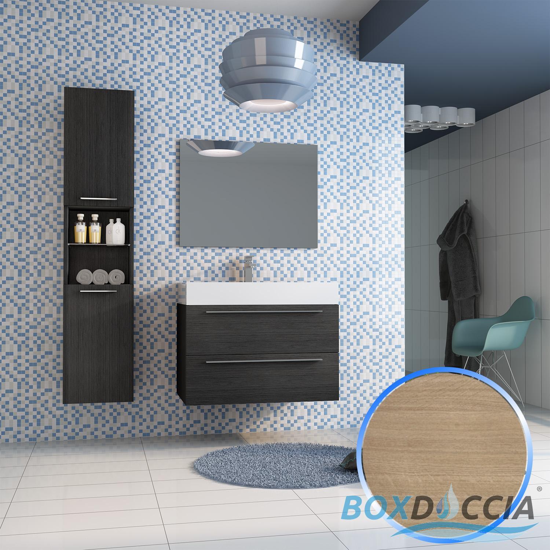 Mobile da bagno sospeso arredo moderno lavabo specchio 80 for Mobile bagno da 80 cm