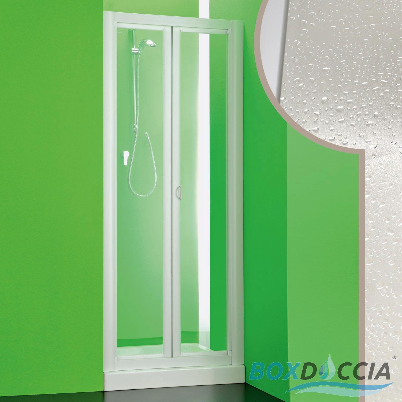 Porta doccia parete nicchia 1 lato a libro soffietto in - Costo porta a libro ...