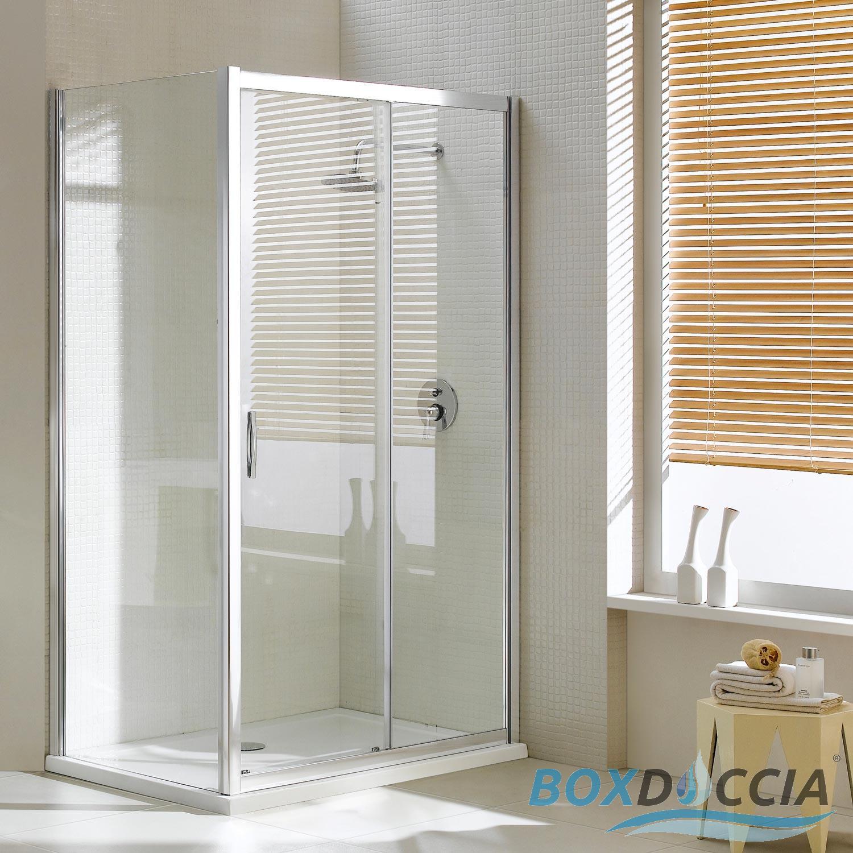 Box cabina doccia 90x140 cm angolare 1 un anta vetro - Box doccia un anta ...