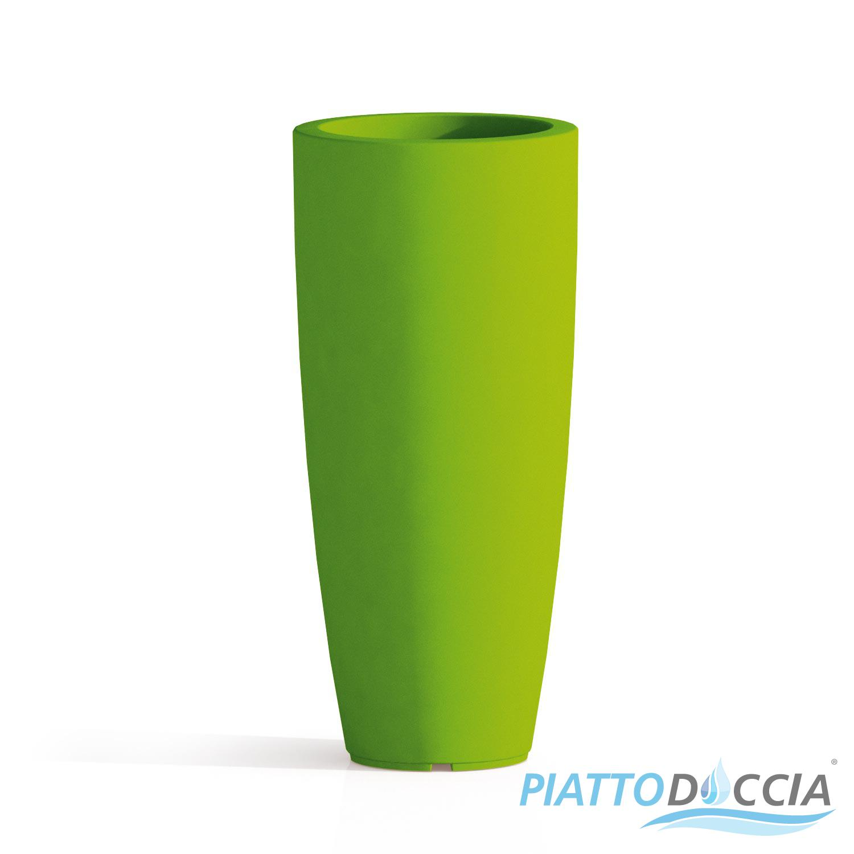 Vaso resina alto moderno tondo plastica pianta giardino for Vasi rettangolari plastica