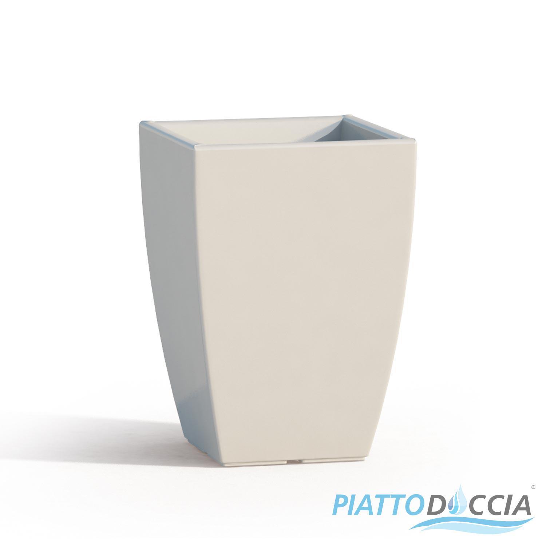 Vaso vasi resina moderno quadrato alto arredo interno for Vasi arredamento moderno
