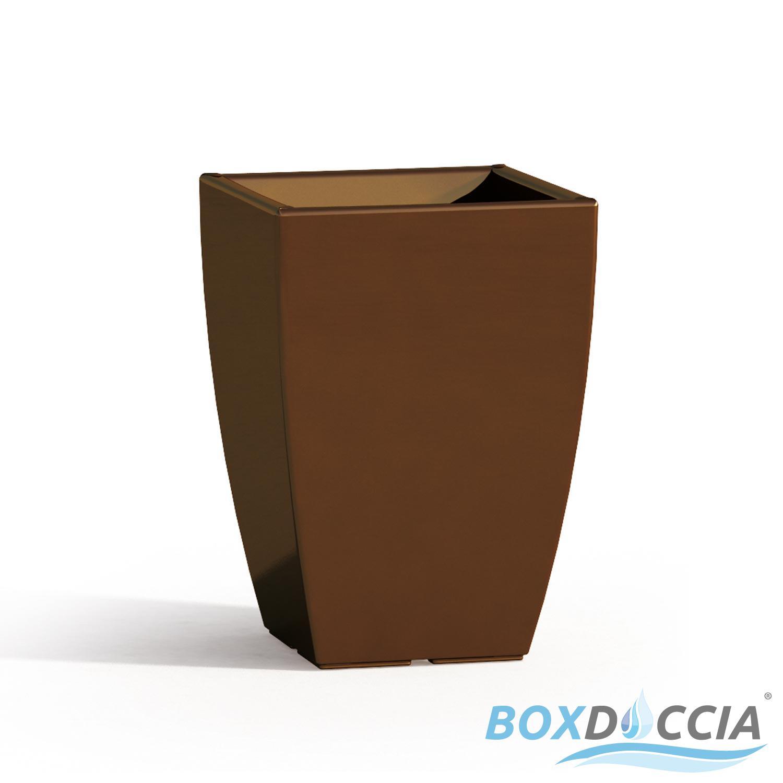 Vaso vasi resina moderno quadrato alto arredo interno for Vasi arredo interno