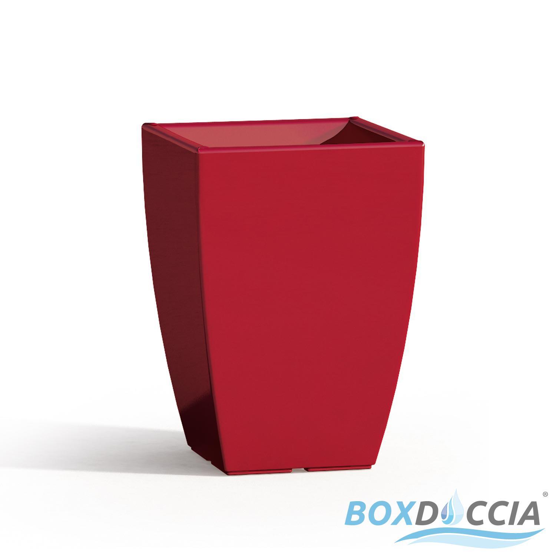 Vaso vasi resina moderno quadrato alto arredo interno for Vaso da interno moderno