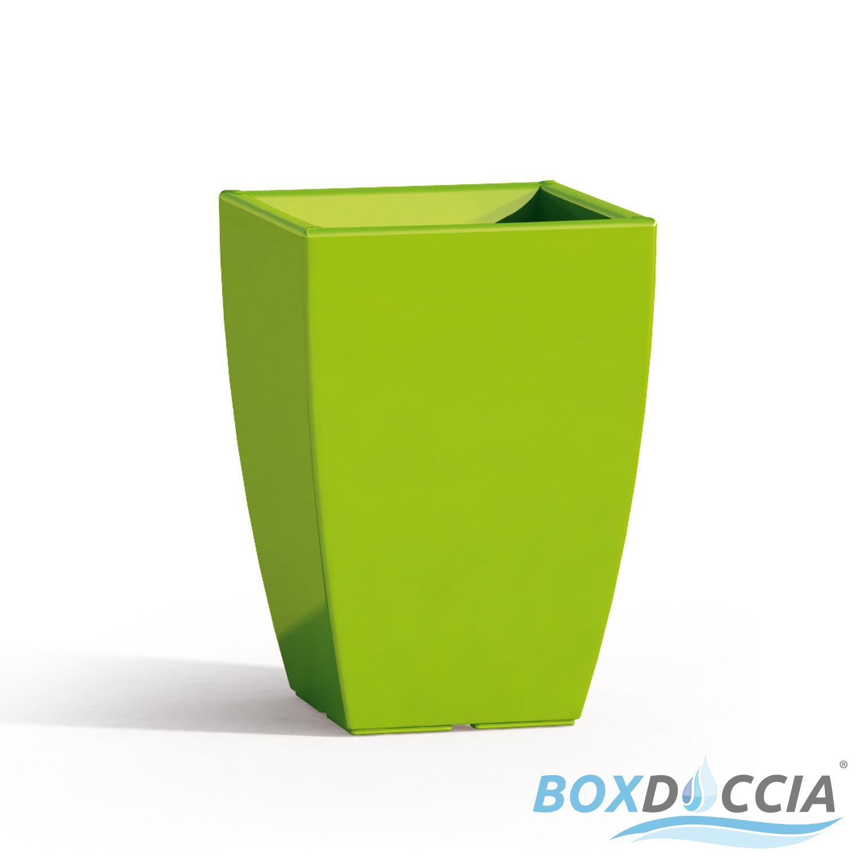 Vaso vasi resina moderno quadrato alto arredo interno for Vasi design interno