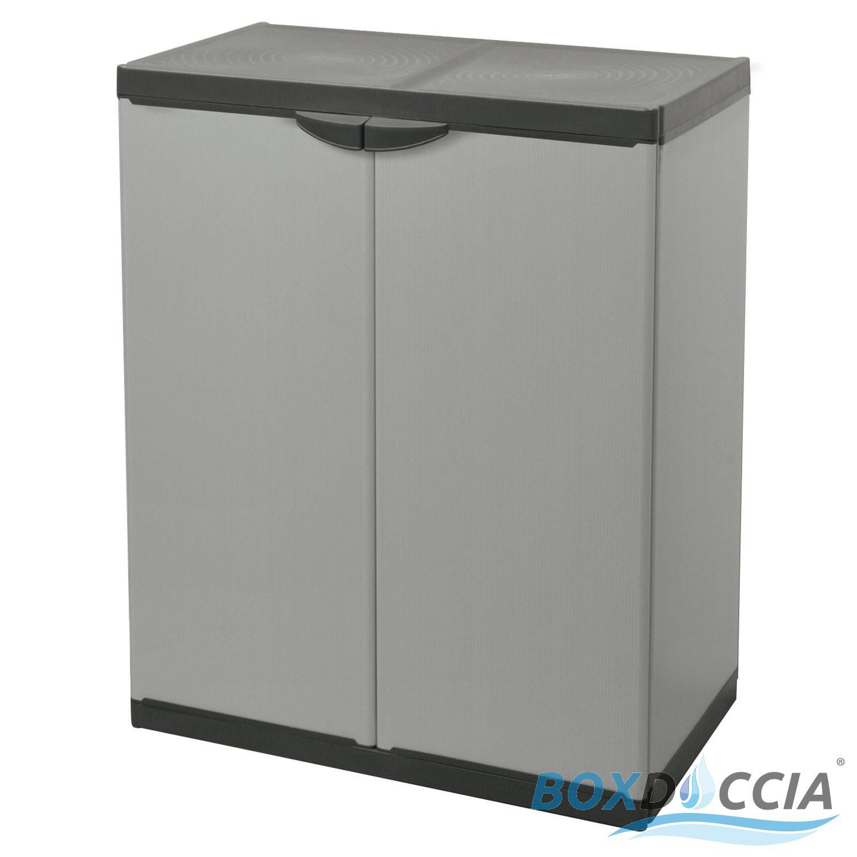 Box Per Bidoni Spazzatura dettagli su mobiletto armadio basso per raccolta differenziata con tre  buste lavabili