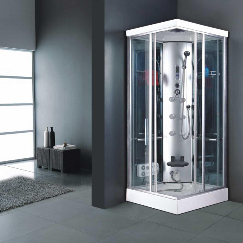 Box doccia idromassaggio 90x90 for Piatto doccia 70x100 leroy merlin