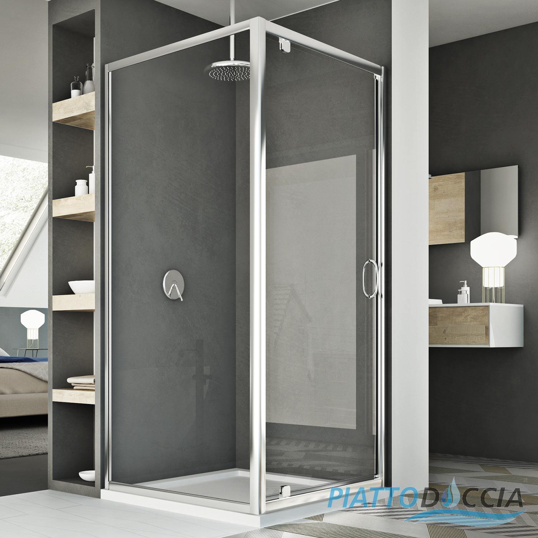 Box cabina doccia apertura a battente anta chiusura - Box doccia un anta ...