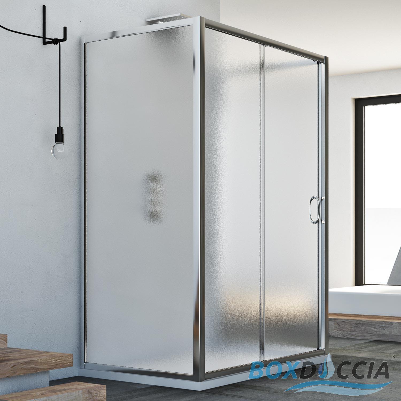 Box Doccia Cristallo Anta Scorrevole : Box doccia lati anta scorrevole apertura frontale