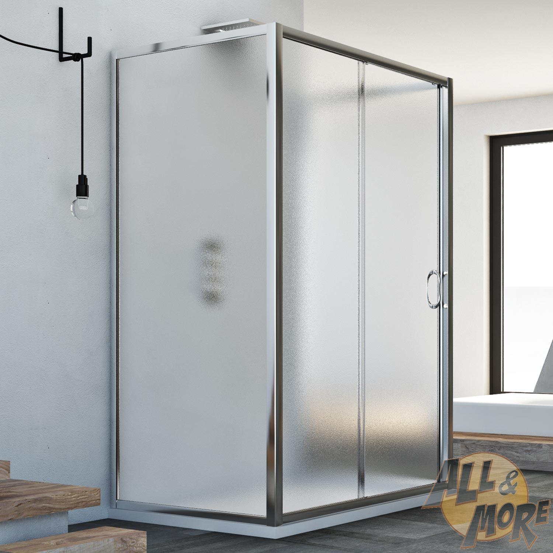 3 Panel Sliding Glass Door: 3-SIDED SHOWER ENCLOSURE CUBICLE SLIDING DOOR FRONT