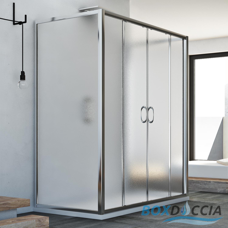 cabine de douche 3 parois en verre et 2 portes. Black Bedroom Furniture Sets. Home Design Ideas