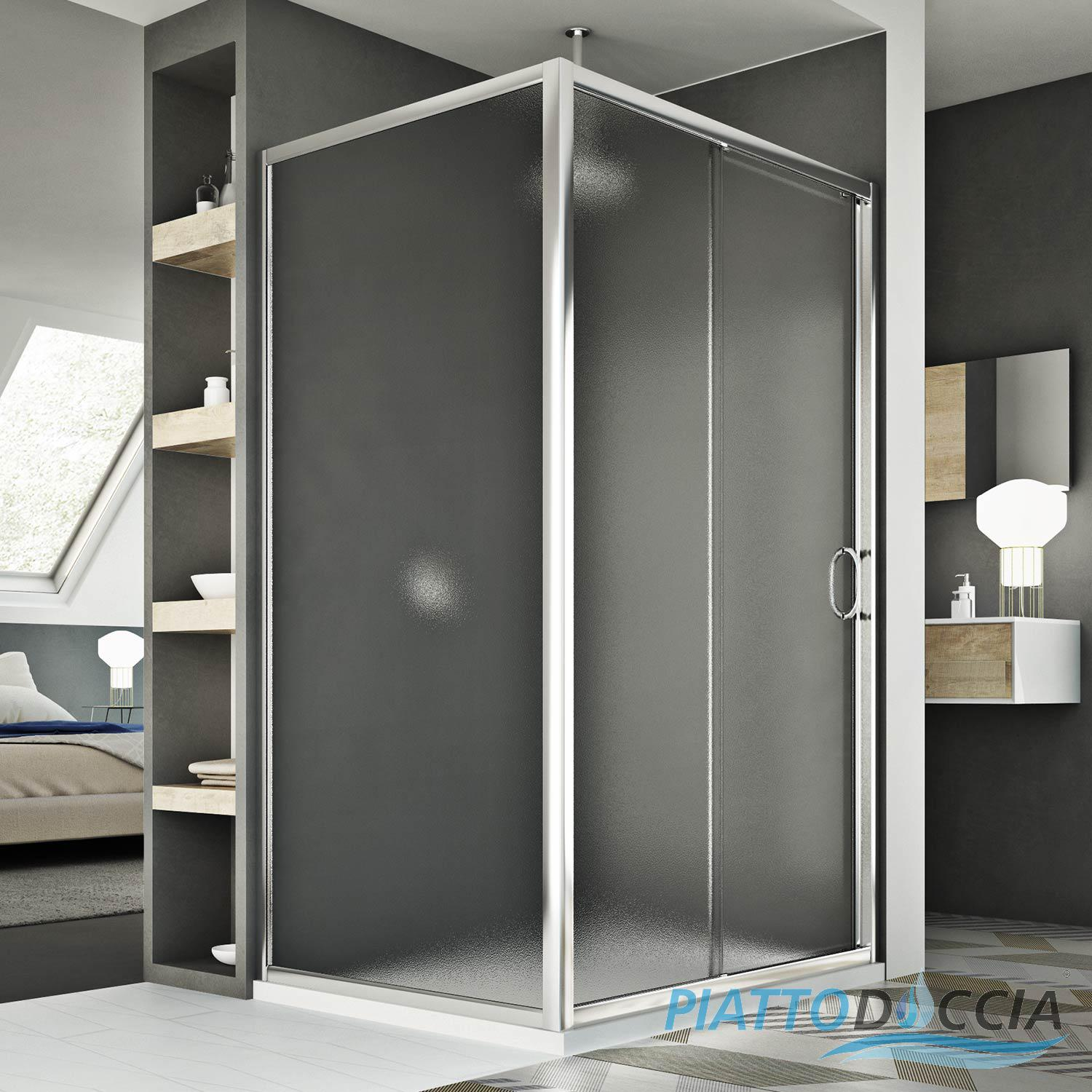 cabine de douche 2 parois porte unique coulissante en. Black Bedroom Furniture Sets. Home Design Ideas