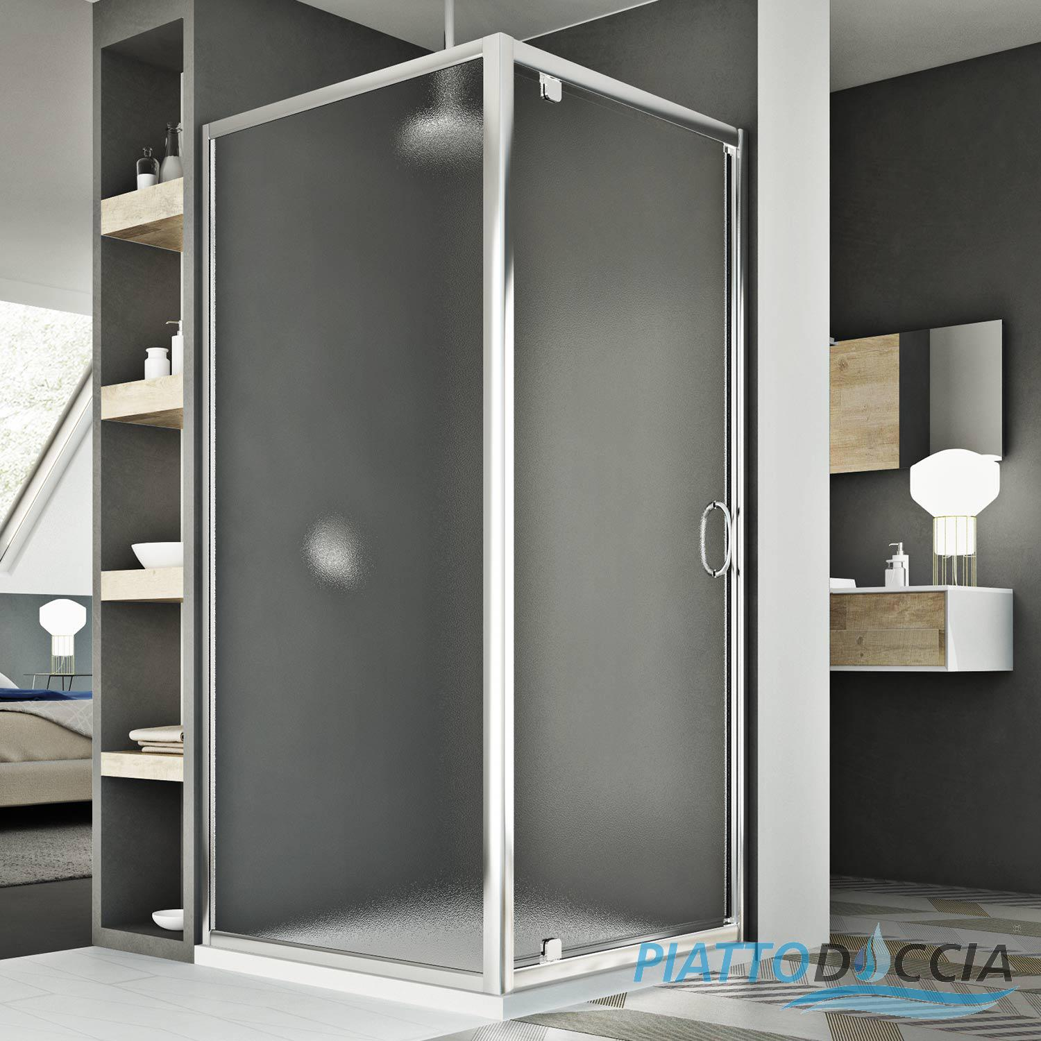 cabine de douche en verre ouverture angulaire porte unique pivot ebay. Black Bedroom Furniture Sets. Home Design Ideas