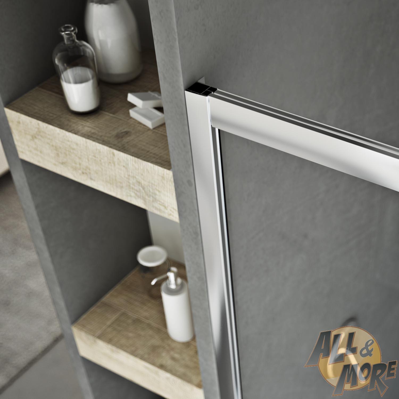 duscht r duschkabine nische echtglas strukturglas 1 schwingt r 90 cm h185 ebay. Black Bedroom Furniture Sets. Home Design Ideas