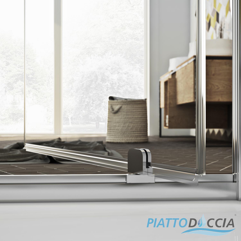 Duschkabine dusche duschabtrennung duschwand schwenkt r for Fenster 70x90