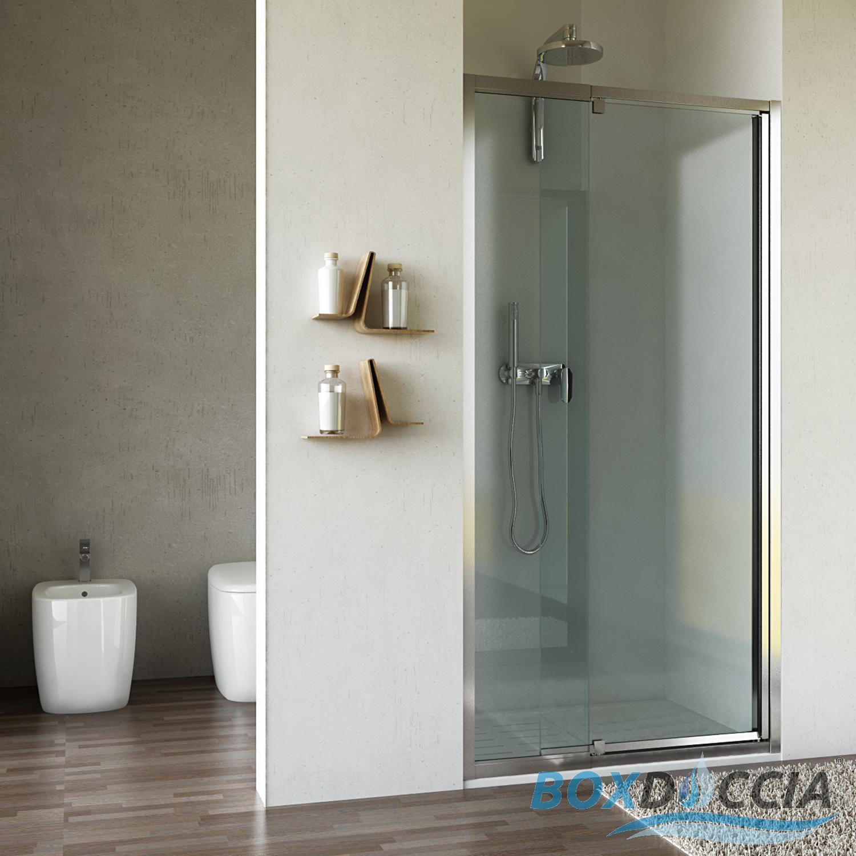 Box cabina doccia nicchia parete porta bagno cristallo - Porta accappatoio da doccia ...