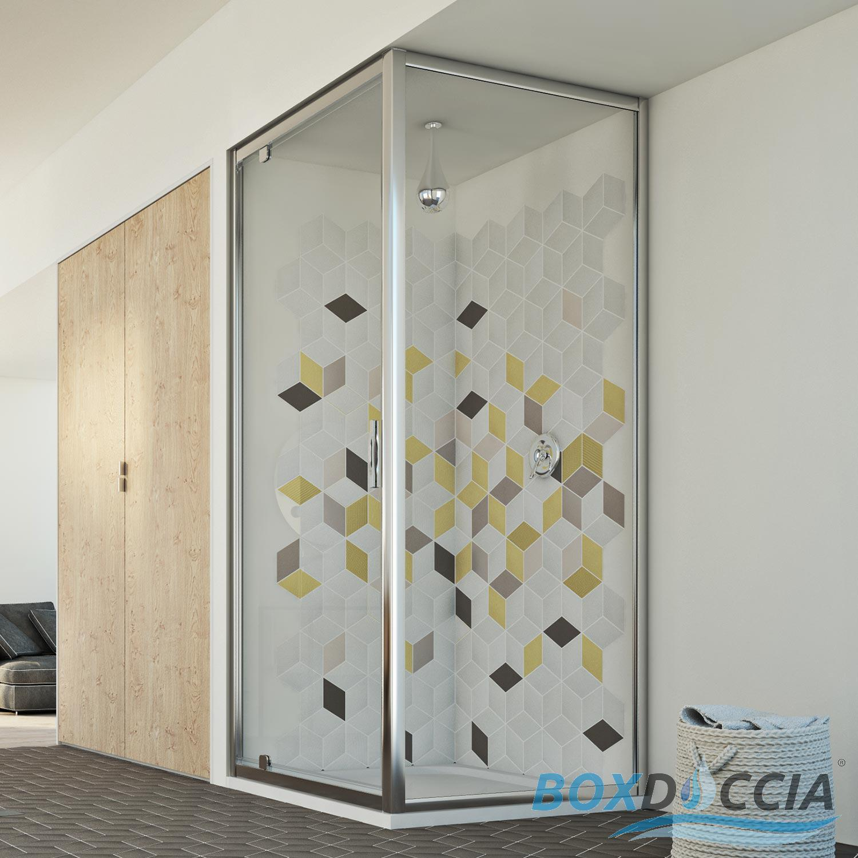 Duschkabine dusche klarglas eckig 70x90 cm profil for Fenster 70x90