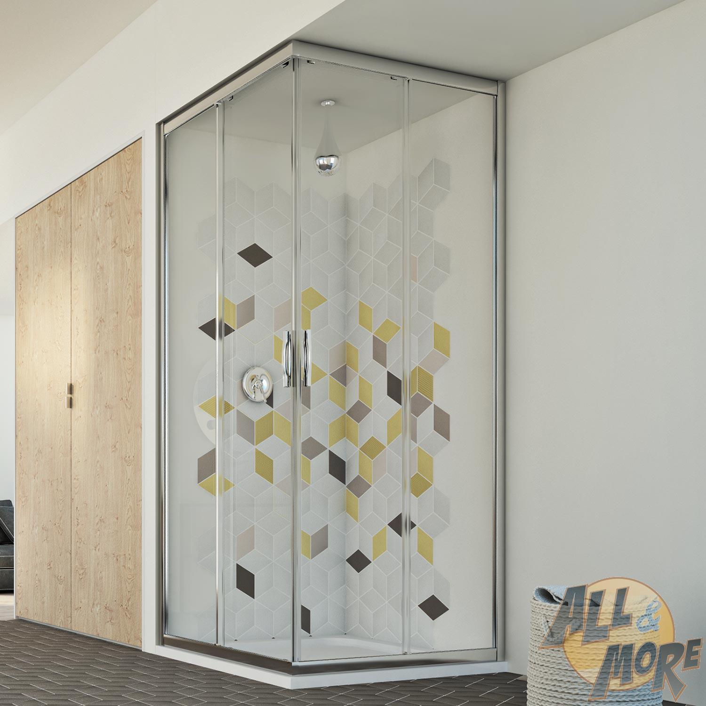 rechteckig duschabtrennung duschkabine eckeinstieg echtglas dusche schiebet r ebay. Black Bedroom Furniture Sets. Home Design Ideas