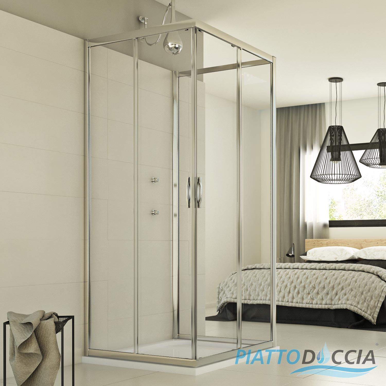 cabine de douche paroi douche 3 parois ouverture angulaire verre coulissant ebay. Black Bedroom Furniture Sets. Home Design Ideas