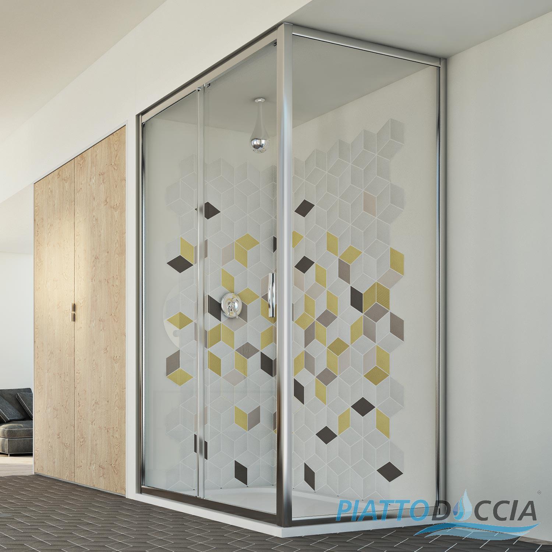 cabine de douche paroi de douche angulaire 1 porte coulissante carr italienne ebay. Black Bedroom Furniture Sets. Home Design Ideas