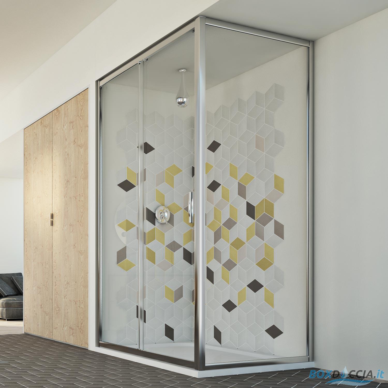 duschkabine dusche duschabtrennung duschwand glas mit 1 seitenwand schiebet r ebay. Black Bedroom Furniture Sets. Home Design Ideas