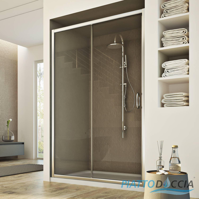 duscht r nischent r duschwand 1 t r echtglas schiebet r von 97 bis 151 cm ebay. Black Bedroom Furniture Sets. Home Design Ideas