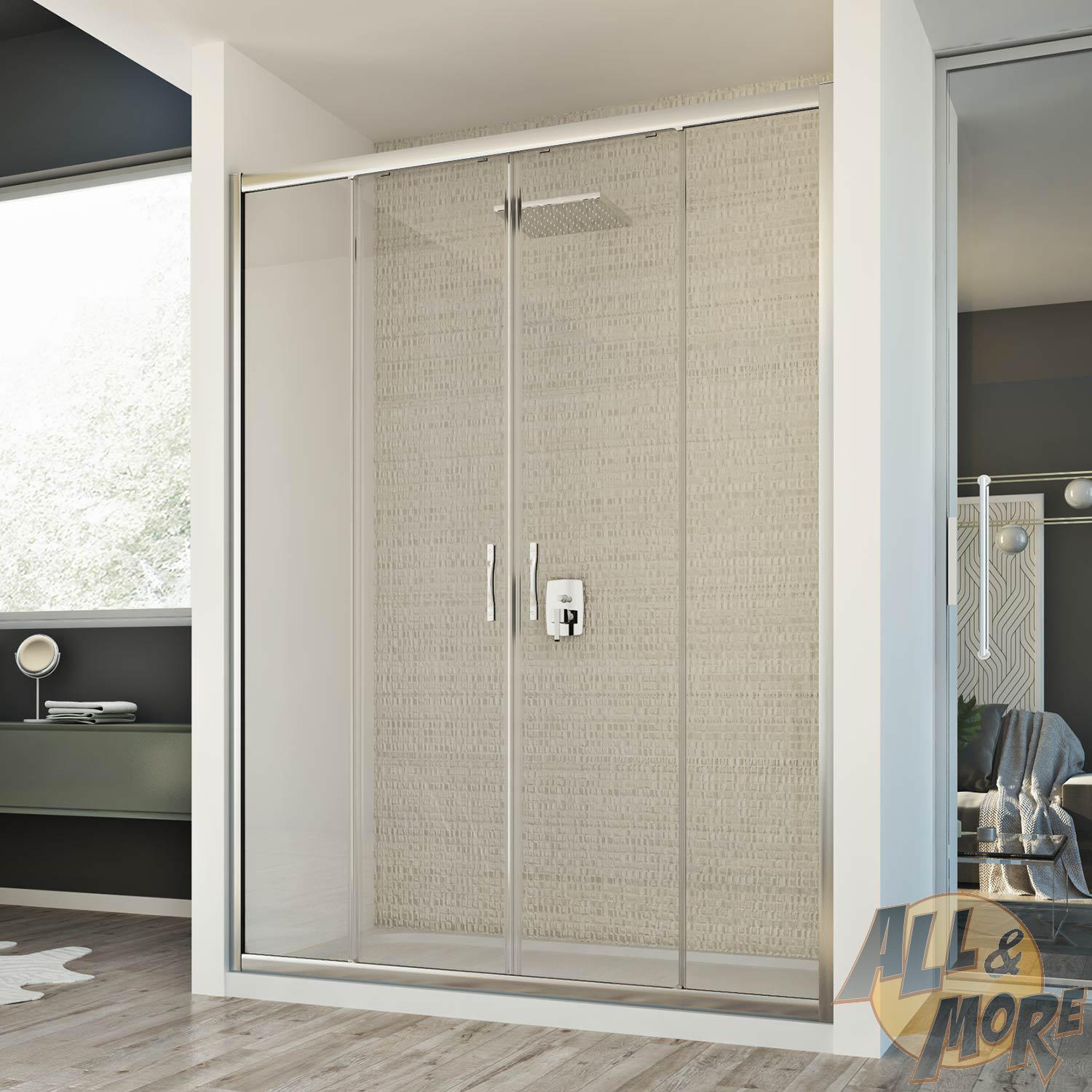 Walk In Shower 2 Sliding Door Enclosure Glass Cubicle Screen From