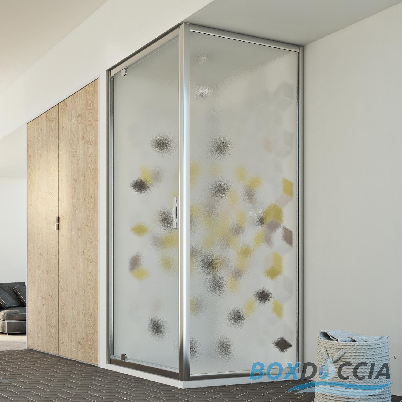 Box cabina doccia cristallo apertura a battente anta - Box doccia un anta ...