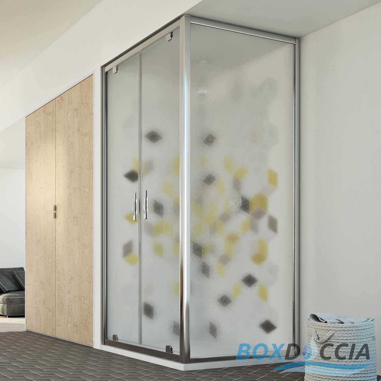 box cabina doccia apertura battente saloon due 2 ante. Black Bedroom Furniture Sets. Home Design Ideas