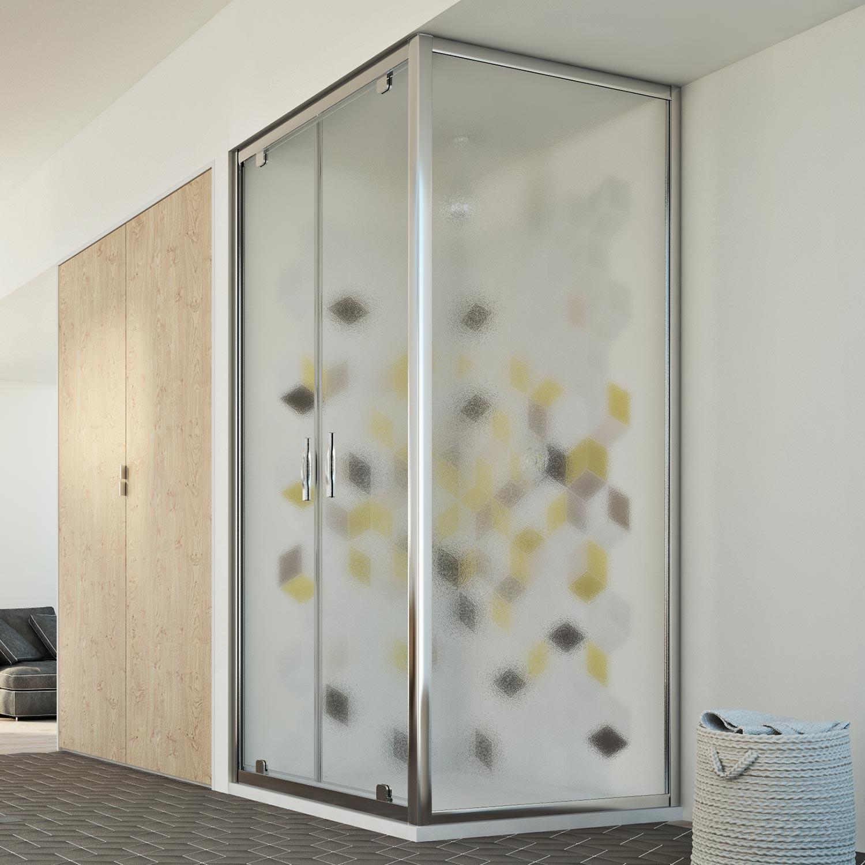 cabine de douche 90x120 h198 2 portes pivotante verre opaque ouverture 120 ebay. Black Bedroom Furniture Sets. Home Design Ideas