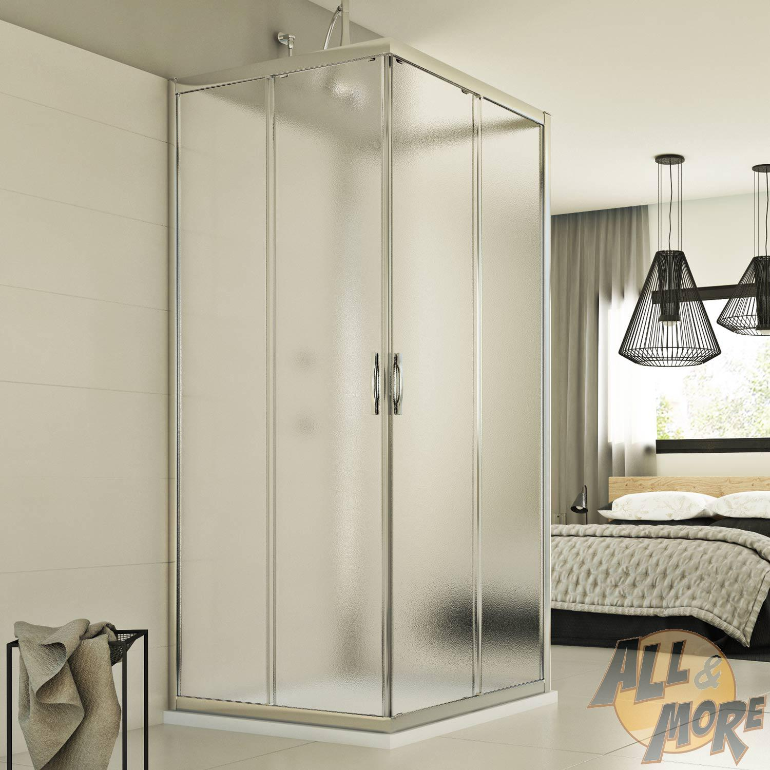 cabine de douche 3 parois 90x120x90 cm verre opaque ouverture coulissant ebay. Black Bedroom Furniture Sets. Home Design Ideas
