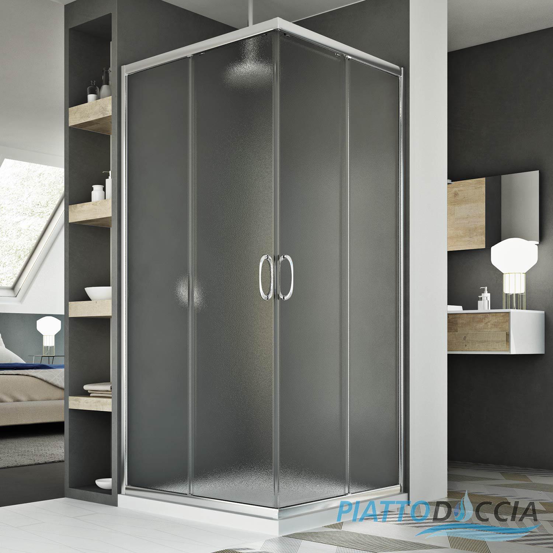 Shower Cubicle Corner Enclosure Shower Screen Glass Sliding Doors