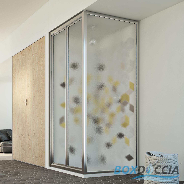 cabine de douche 2 parois angulaire verre ouverture 1. Black Bedroom Furniture Sets. Home Design Ideas