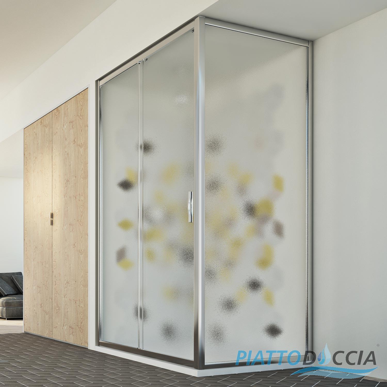 Box cabina doccia 1 anta vetro apertura scorrevole - Chiusura doccia scorrevole ...