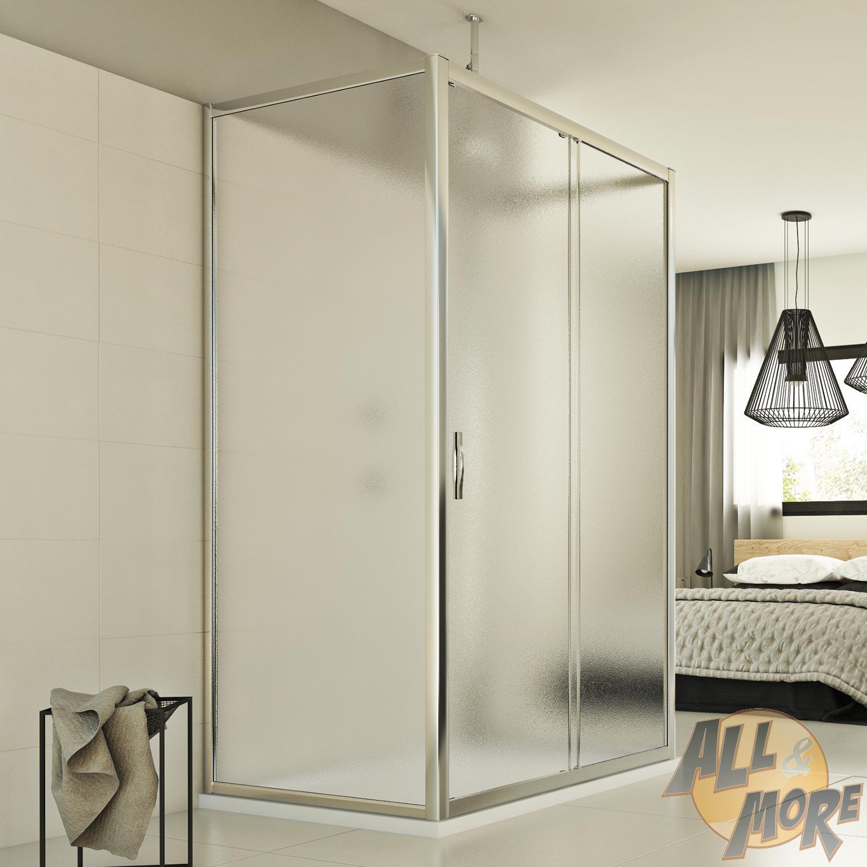 duschkabine dusche duschabtrennung glas u form schiebet r. Black Bedroom Furniture Sets. Home Design Ideas
