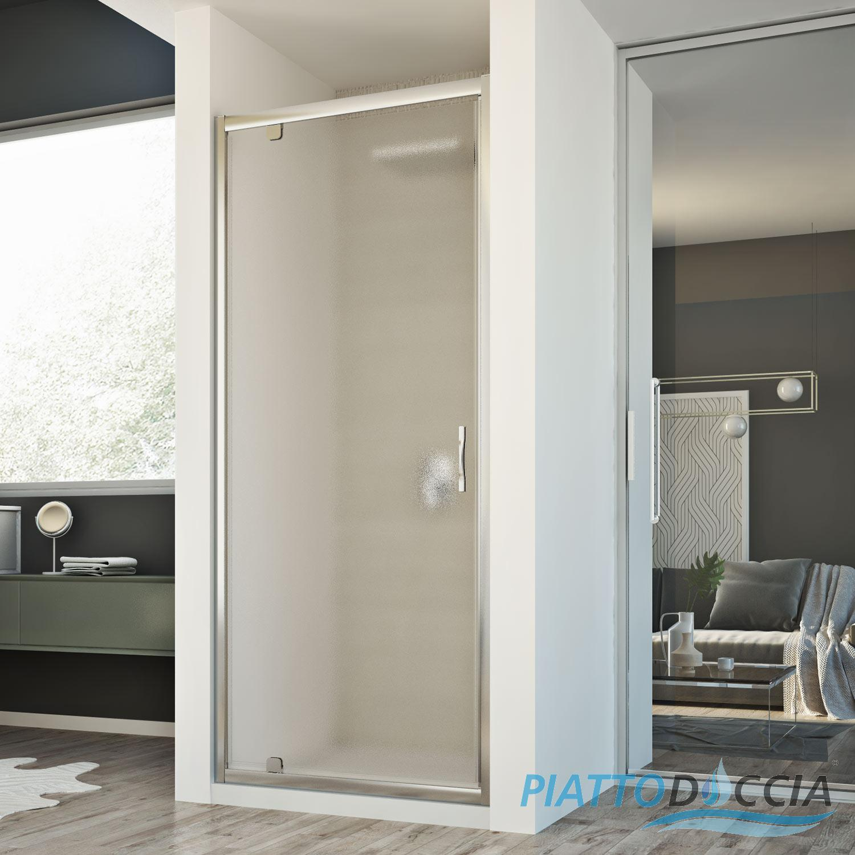 Cabine de douche paroi de douche niche 1 porte pivotante - Cabine de douche porte pivotante ...