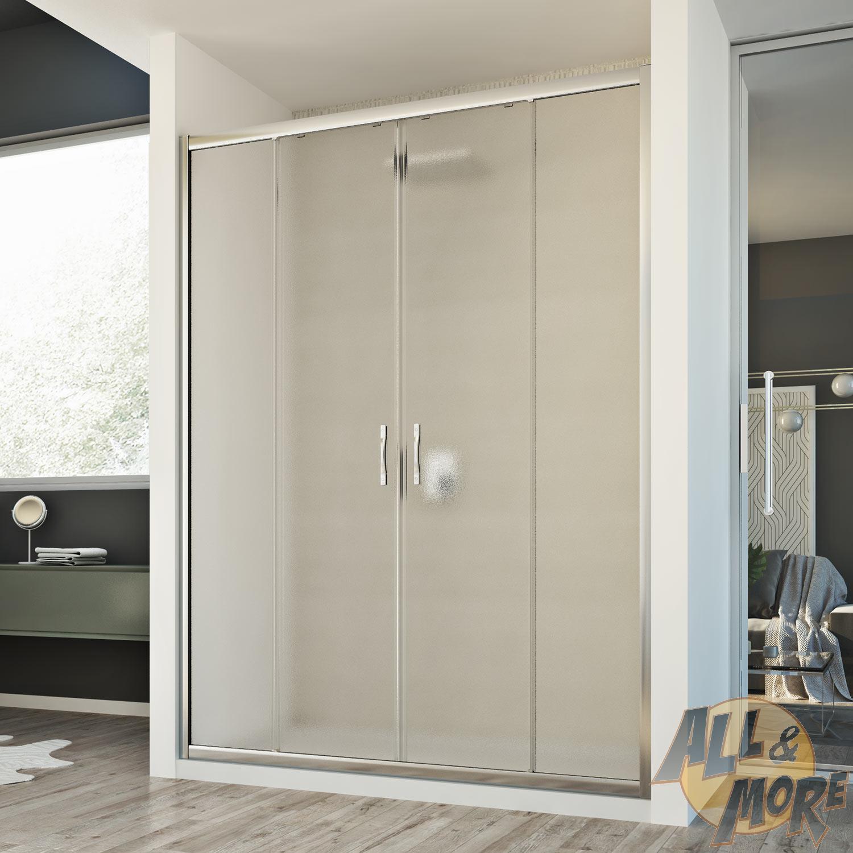 cabine de douche paroi de douche 140 cm mur coulissantes 2 portes